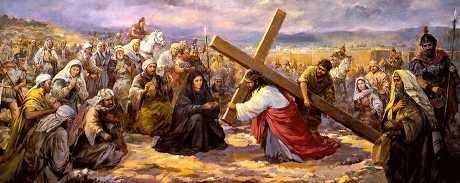 십자가를 지시고 골고다 길을~
