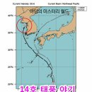태풍 야기 14호 미국 일본 기상청