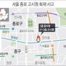 종로 고시원 화재 7명사망/전열기 원인