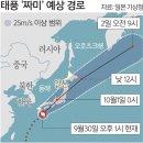 초강력 태풍 짜미 일본 강타… 등대도 뽑혔다