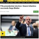 [BBC Sport] 지아니 인판티노, 신임 FIFA 회장으로 당선