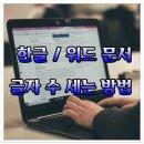 문서 글자 수 세기(한글/워드/메모장으로 글자 수 세는 방법)