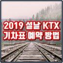 2019 설날 KTX 예매 방법 코레일 기차표 예약 TIP
