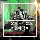 충남 서천 기산초등학교 마술쇼 + 버블쇼 = 버블매직쇼 공연