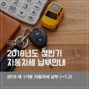 자동차세 납부방법 :: 2018년도 상반기 자동차세 납부안내 (~7.2)