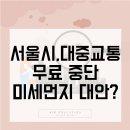 미세먼지 대중교통 무료정책 중단, 서울시가 내놓은 대안 8가지