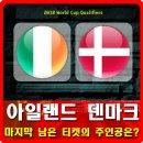 아일랜드 덴마크 마지막 티켓의 주인공은 누구?
