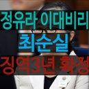 정유라 이대비리, 최순실 징역 3년 확정