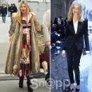 '스타일 매치' 케이트 모스 vs 나탈리아 보디아노바 , 파리 패션위크에 뜬 톱모델!