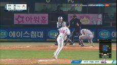 이용규의 번트 실패, 예상 못한 더블 아웃 / 8회초