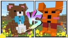 쁘허가 지은 곰돌이 vs 태경이 지은 곰돌이 푸! 넘 귀여운 건축속에 버튼이! (건축 버튼 찾기 마인크래프트) [태경]