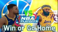 NBA Playoff LA lakers VS Golden State Win of go home 코믹실황 중계 패니TV PennyTV NBA PS4