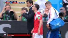 [러시아 VS 사우디] 첫 경기, 햄스트링으로 교체 아웃되는 자고예프 SBS 2018 FIFA 러시아 월드컵 44회