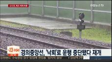 폭우에 피해속출..낙뢰로 열차 중단·담벼락 무너져
