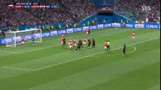 [영상][러시아:크로아티아] '로브렌→레비치' 약속된 플레이로 러시아 골문 위협