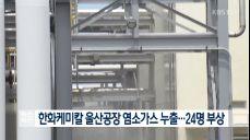 한화케미칼 울산공장 염소가스 누출..24명 부상
